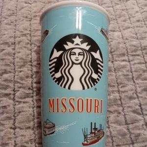 Missouri Starbucks ceramic tumbler